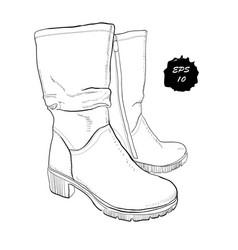 Hand drawn graphic women footwear vector