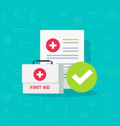 Medical box and clinical form with results data vector