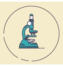 microscope vintage retro line art lab tools vector image
