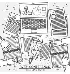 Wibinar web conference concept icon thin line for vector