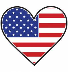 American heart flag vector
