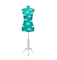 blue female tailors dummy mannequin vector image