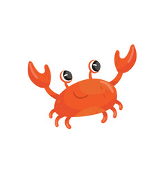 cartoon of red smiling crab funny vector image