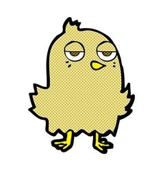 comic cartoon bored bird vector image