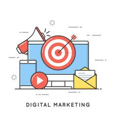 digital marketing internet advertising and vector image vector image