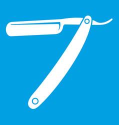 razor blade icon white vector image vector image