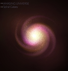 Spiral galaxy vector image
