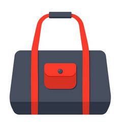 sport bag icon vector image vector image