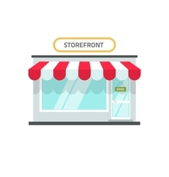 Store isolated shop front vector image vector image