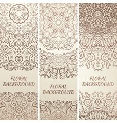 Tribal ethnic grunge banners vector image