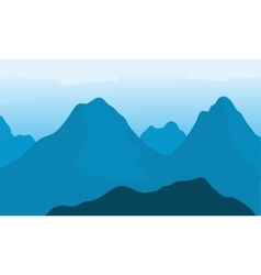 Big mountain with blue background vector image