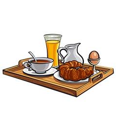 breakfast in hotel vector image vector image