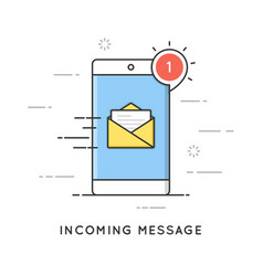 incoming email notification new message flat vector image vector image