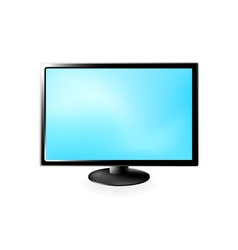 lcd tv isolated on a white vector image vector image
