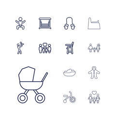 13 kid icons vector