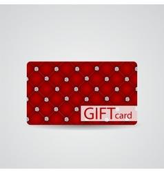 Abstract Beautiful Diamond Gift Card Design vector