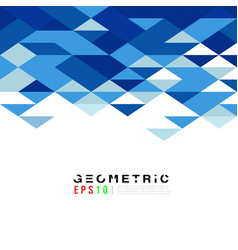 abstract geometric triangle blue mosaic pattern vector image