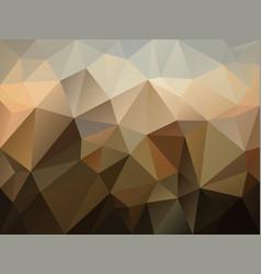Abstract irregular polygon background brown vector