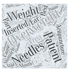 Acupuncture and Weight Loss Word Cloud Concept vector