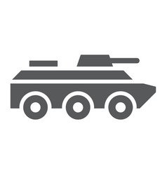 amphibious vehicle glyph icon transport and army vector image