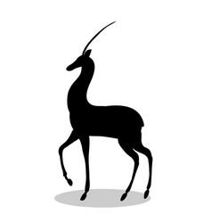 Antelope mammal black silhouette animal vector