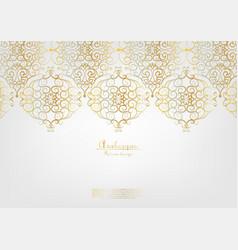 Arabesque elegant gold background vector
