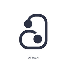 Attach icon on white background simple element vector