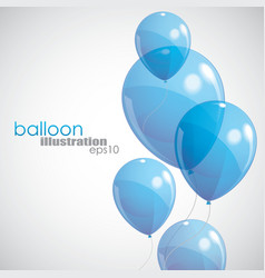 Background with blue balloons vector