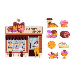 Candy business concept vector