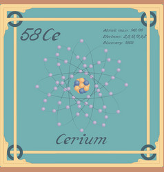 Cerium colorful icon vector
