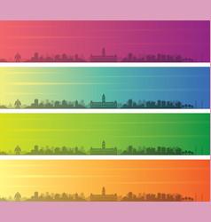 Chennai multiple color gradient skyline banner vector