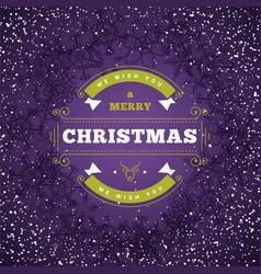 christmas greeting card vintage vector image