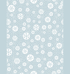 Christmas seamless pattern with snowflakeson blue vector