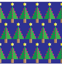 Christmas tree seamless geometric pattern vector image