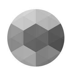 Circle with grey triangulation effect vector