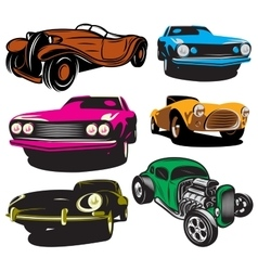 collection with colored vector image