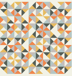 colorful retro hipsters triangle seamless pattern vector image