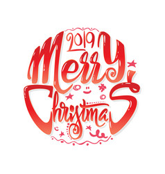congratulations merry christmas calligraphy for vector image