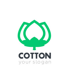 cotton icon logo element vector image