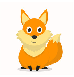 Cute fox character with an smile expression vector