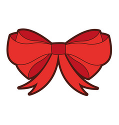 Decorative bowtie isolated icon vector