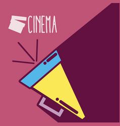 Directors bullhorn cinema cartoon vector