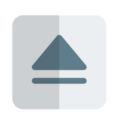 Disc eject symbol on drive button layout vector