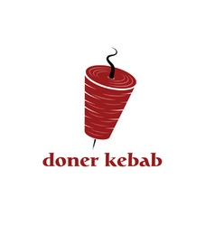 Doner kebab design template vector