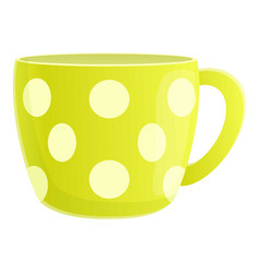 Dotted mug icon cartoon style vector