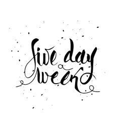 Five day week vector
