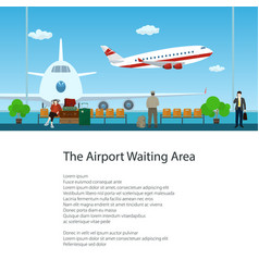 Flyer waiting room with passengers vector