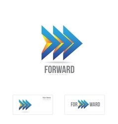 Forward arrow moving concept logo vector
