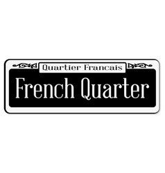 French quarter vector