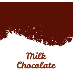 fresh milk chocolate splash stream vector image